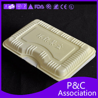 2014 popular disposable plastic box Fast food box quick meal packing box