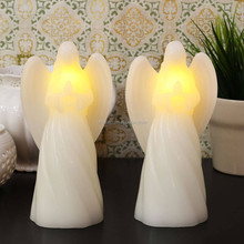 """7"""" Smooth Wax Praying Angels Votive Candles"""