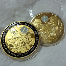 Customize Sniper challenge gold plating weapon gun coin
