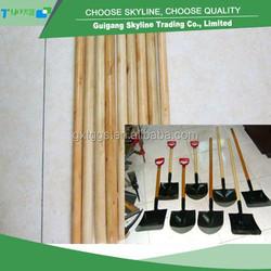 hard wood with lowest price varnished wooden shovel handle