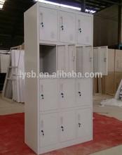 Customized waterproof ikea 12 door metal locker cabinet/galvanized staff metal storage cabinet gym