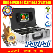 underwater video camera with 24pcs leds,50m cable,Color LCD monitor