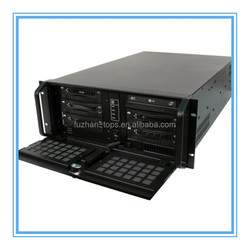 Compact rack server case aluminum front panel rackmount chassis