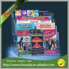 Clear Acrylic Magazine Display Stand Racks