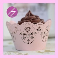 DG-108 Arabic cupcake wrappers personalized laser cut cupcake wrapper for wedding accessory