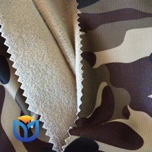 100% polyester amy camouflage printed warp knitted fabric golden velvet sportoc Triacetate for sportwear