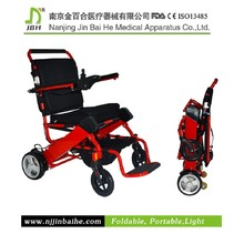 180W Portable lightweight electric power wheelchair with LED light