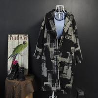 New Model Fashion loose wool coat women long cocoon shaped coat thickness coat