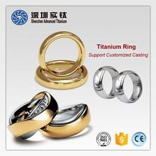 Titanium new design 3 gram gold finger black gay men ring casting forging factory