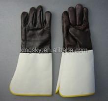 Dark color furniture leather welding glove