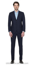 2015 new spring style high quality 100% wool custom made navy blue nam and co suits