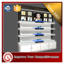 High end modern mdf cosmetic display stand ,shop shelf display cosmetic