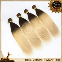 6A cheap human hair 12 inch straight hair omber hair remy hair brazilian hair extensions