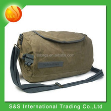 Fashion style high quality durable travel sports round canvas duffel bag