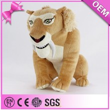 Hot sale striped wild animal factory custom stuffed tiger toy, big plush tiger