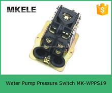 MK-WPPS19 adjustment mechanic electric high pressure control switch with valve,water pump pressure controller, jet pump switch