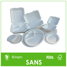 Compostable Biodegradable Sugarcane Bagasse Tableware