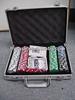 1000pcs 11.5g chips ,5 Dice Poker Chip Set in Silver Round Corner Aluminium Case/Casino Poker set