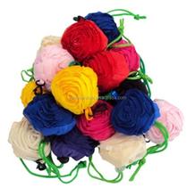 Cartoon folding shopping bag creative rose flower eco-friendly shopping bag