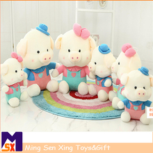 ASTM certificated cute soft plush pig toy with stuffed animal pig doll