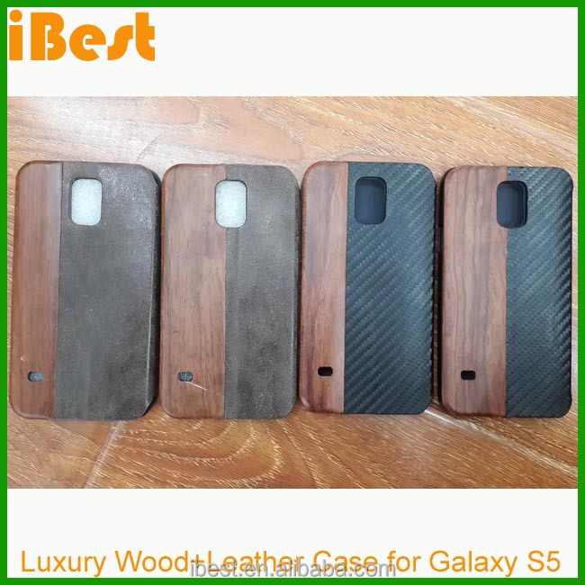 leather flip case for samsung s5, for samsung galaxy s5 wooden case,real wood phone case
