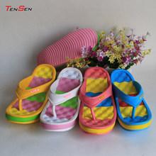 multi-color light soft breathing comfortable anti-slip bounce swing shoes high heel wedge flip flops massage beach slippers