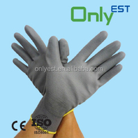 China factory excellent quality chemical industry nylon pu coat gloves