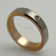 Stainless Steel Eco friendely 18k rose gold plated wedding rings