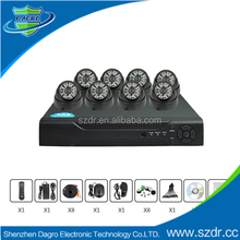 Cheap factory price 8 channel 700tvl security camera cctv Dvr Kit