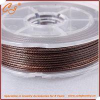 Korean Wax Cord 1.5mm 6 meter wax processed nylon thread in spool in Coffee Brown