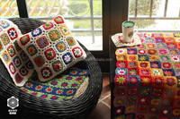 new design flower pattern crochet cushion covers