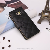 Nice pu Leather knit pattern phone case for Samsung S6