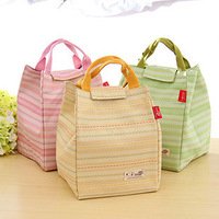lovely double insulation picnic bag,three color cloth lunch bag,multifunction cooler bag