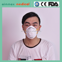 Homemade Disposable Surgical N95 face mask /PM2.5 dust proof exhalation one-way valve for noish face mask