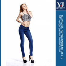 Latest design skinny lady jeans, fashion branded woman jeans