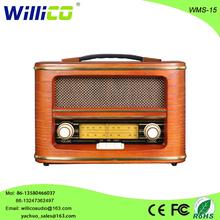 Retro mini speaker with easy to carry WMS-15