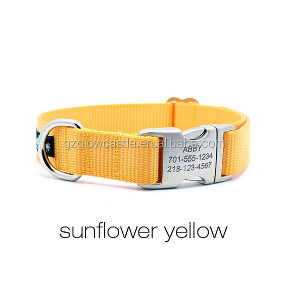 HEAVY DUTY Webbing Dog Collar with Laser Engraved Personalized Buckle (3).jpg