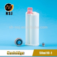 50ml 10:1 PBT Dental plastic chemical storage container for glue injection tube