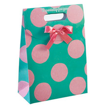 Die Cut Handle With Bow For Gift bags