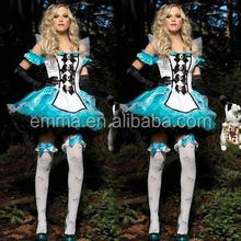 Adult carnival party costume alice in wonderland dress wholesale BWG-2293
