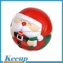 Best gift Santa pu foam anti-stress ball (trade show giveaways,anniversary gifts)