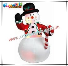 Gentle LED inflatable snowman/inflatable christmas decoration CHR-67