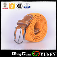 Muti Color Men's Casual Braided Knitted Elastic Stretch Belt