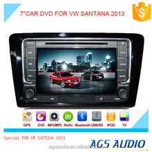 "7""special touch screen for VW SANTANA 2013 Car radio with DVD Player GPS navigation bluetooth RDS SD"