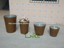 alta qualidade barata jardim vaso de vime