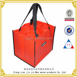 china wholesale non woven leather wine carrier