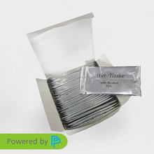 OEM welcomed wholesale nonwoven alcohol wet tissue