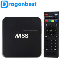 Factory wholesale M8 Android Smart TV Box M8S Amlogic S812 2G/8G XBMC Dual band wifi Full HD Android 4.4 Media Player M8 TV Box