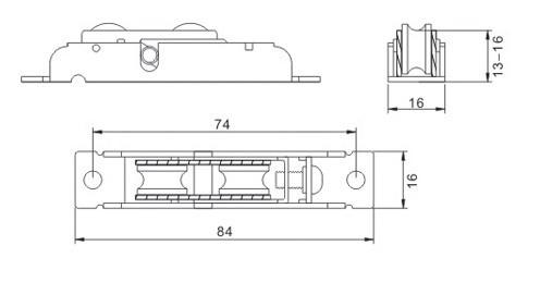 Дверной ролик YUANDA S806