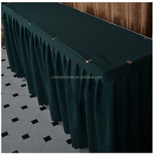 beautiful organza bridal table skirt